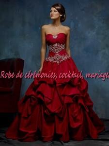robe de mari e nv bordeaux coupe pliss vendu avec jupon