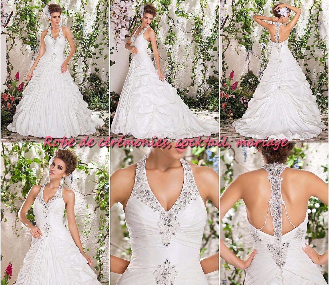 Robe de mariee blanche avec strass