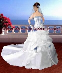 robe de mari e nv blanc bleu vendu avec jupon adapt. Black Bedroom Furniture Sets. Home Design Ideas