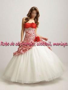 robe de mari e nv rouge et blanche vendu avec jupon adapt boutique robe de. Black Bedroom Furniture Sets. Home Design Ideas