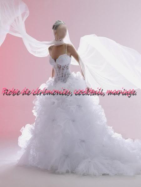 Robe de mariée NV blanche bustier transparent VENDU avec jupon adapté. , Boutique robe,de,ceremonies.wifeo.com
