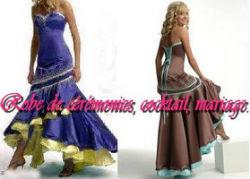 Robe soiree chocolat turquoise