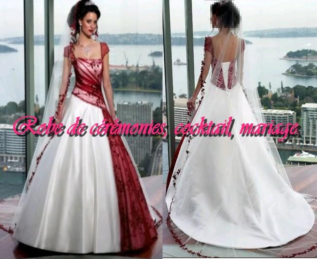 5d82dc88df9 robe de mariee bordeaux et blanche