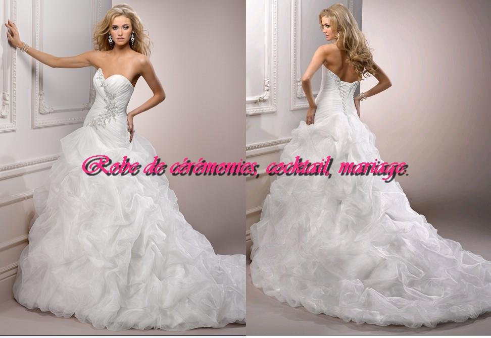 Robe de mariée prestige bustier coeur orné de strass VENDU avec jupon  adapté. , Boutique robe,de,ceremonies.wifeo.com