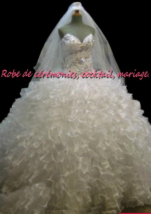 Robe de mari e bustier strass argent for Robes de mariage en argent